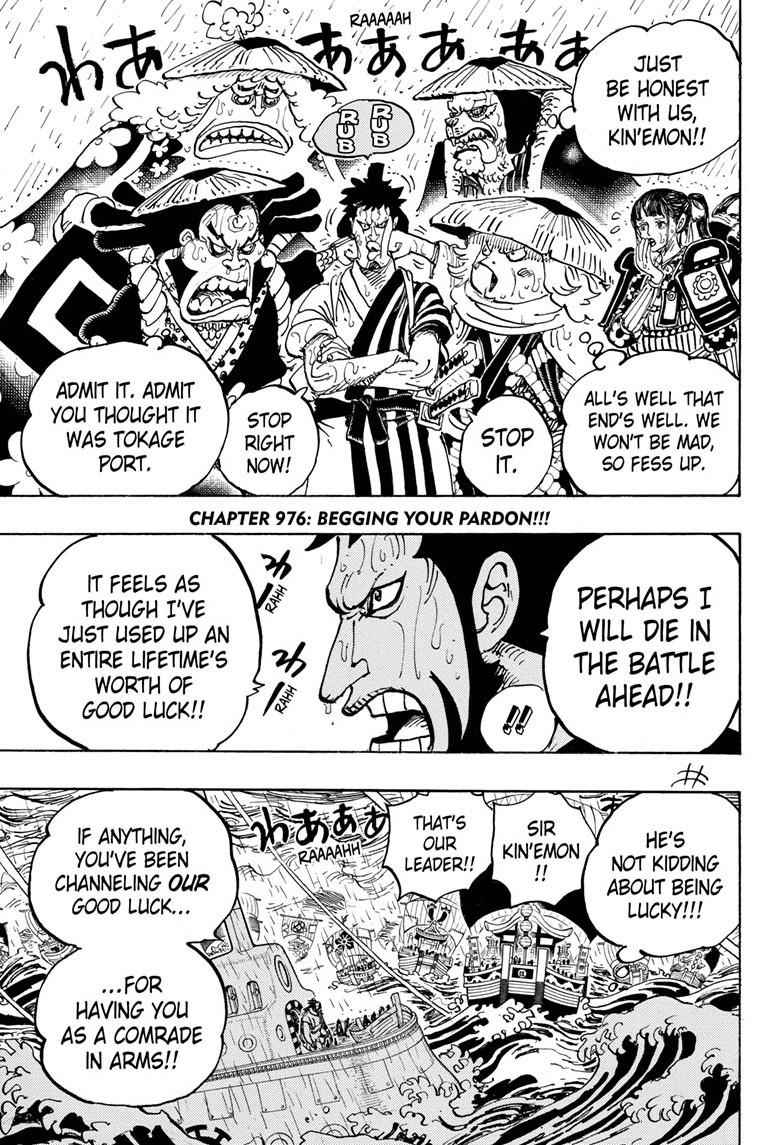 One Piece Chapter 976 Page 3