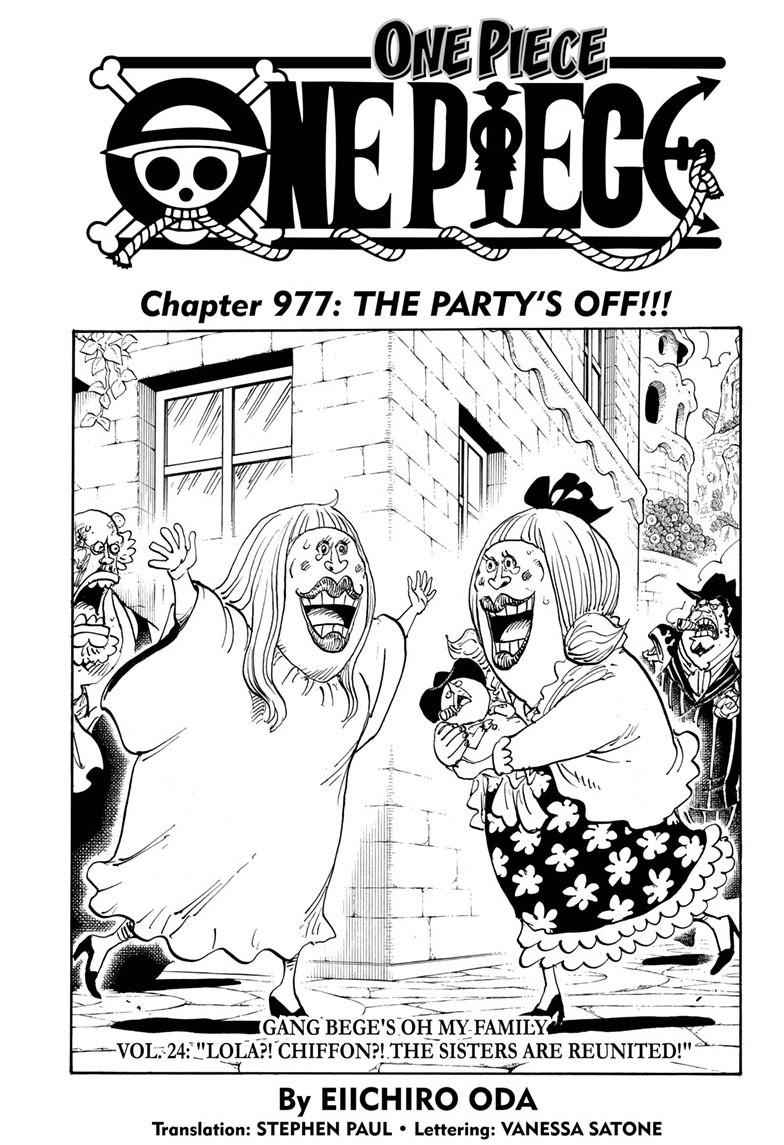One Piece Chapter 977 Page 1