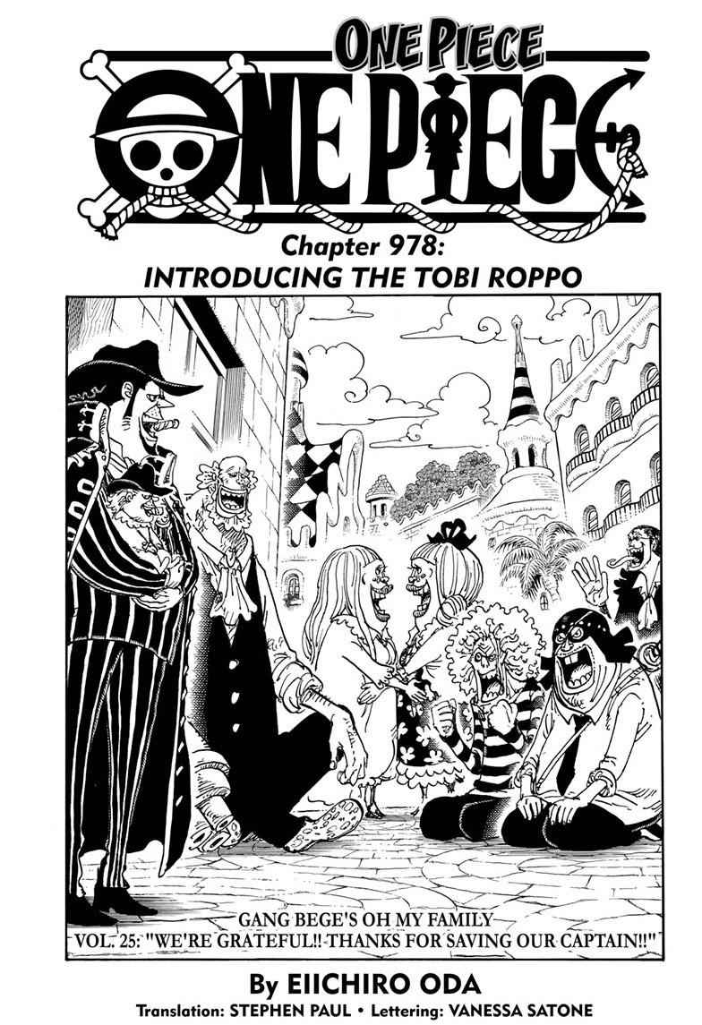 One Piece Chapter 978 Page 1