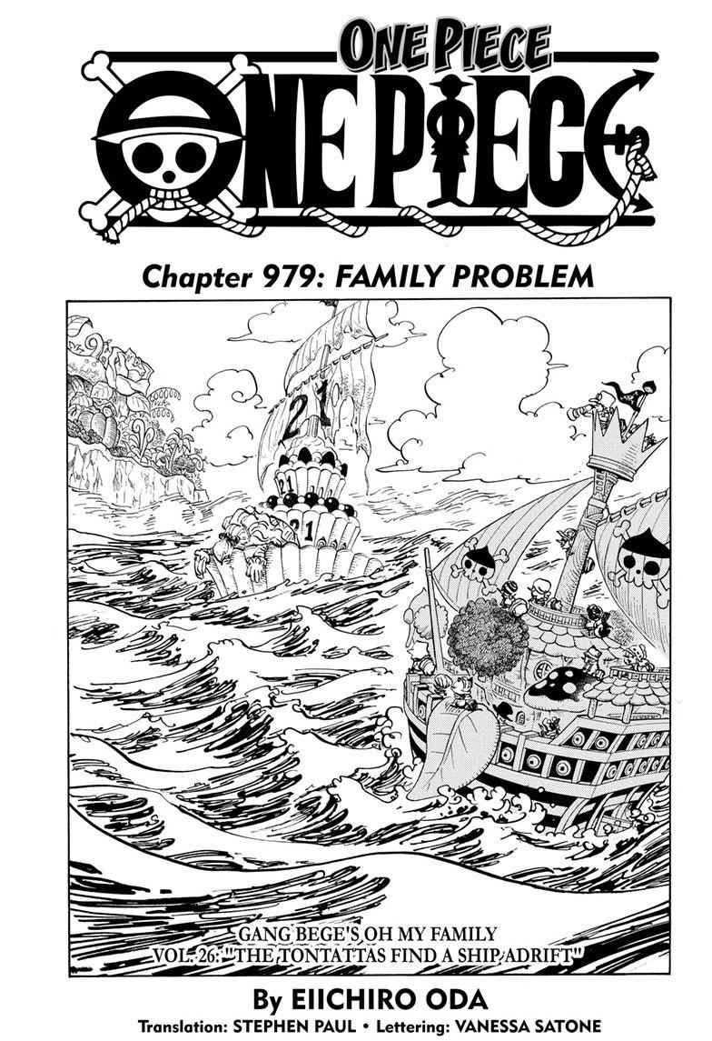 One Piece Chapter 979 Page 1