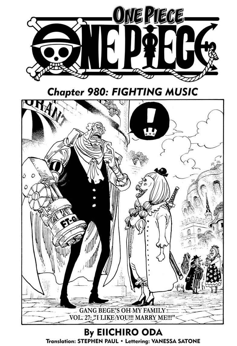 One Piece Chapter 980 Page 1