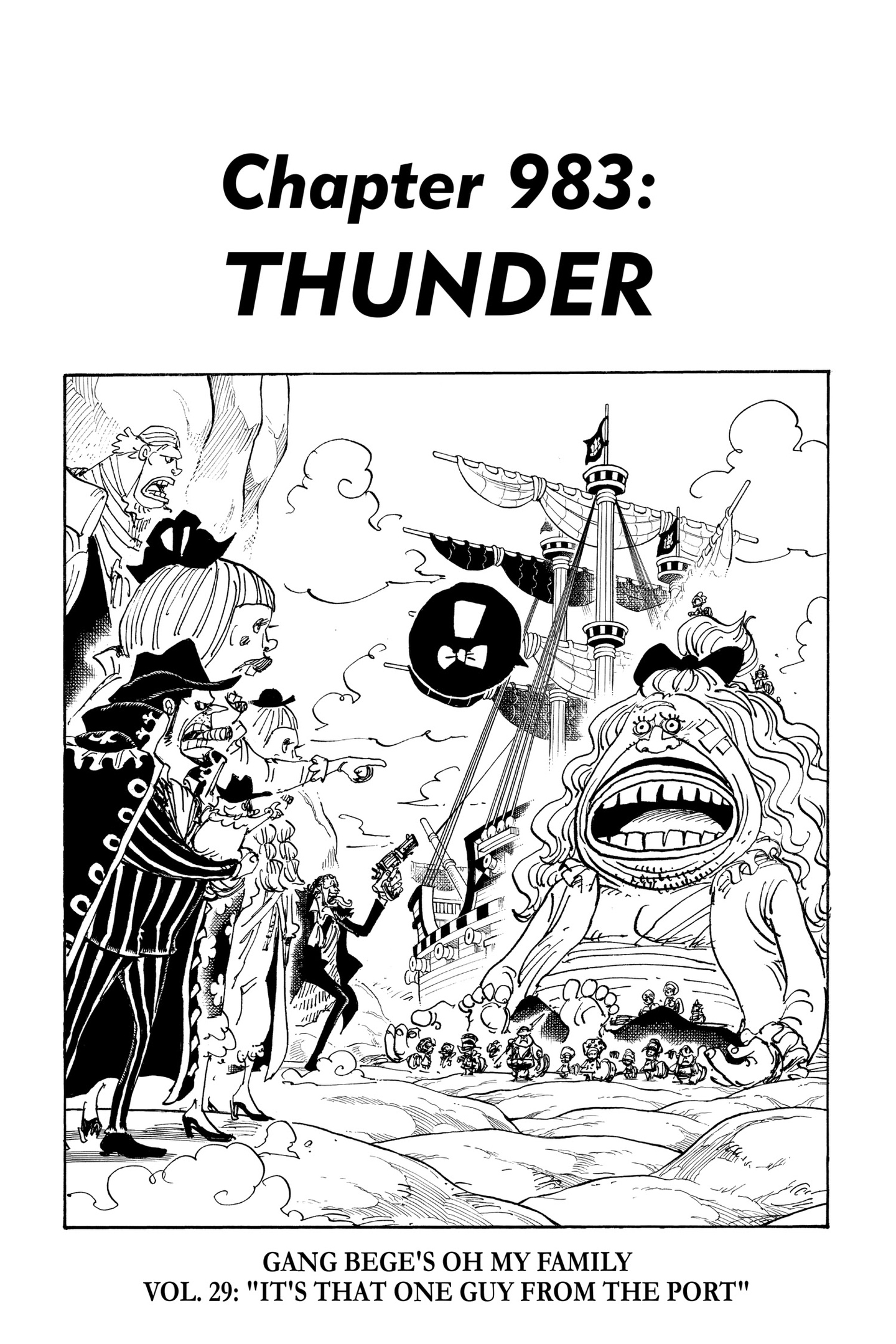 One Piece Chapter 983 Page 1