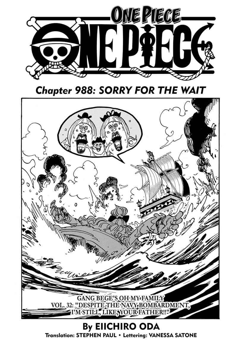 One Piece Chapter 988 Page 1