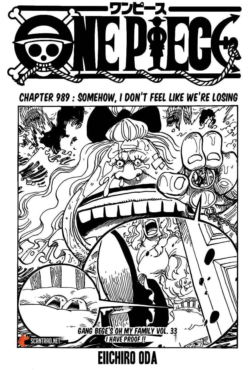 One Piece Chapter 989 Page 1