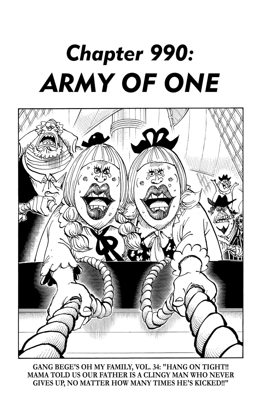 One Piece Chapter 990 Page 1