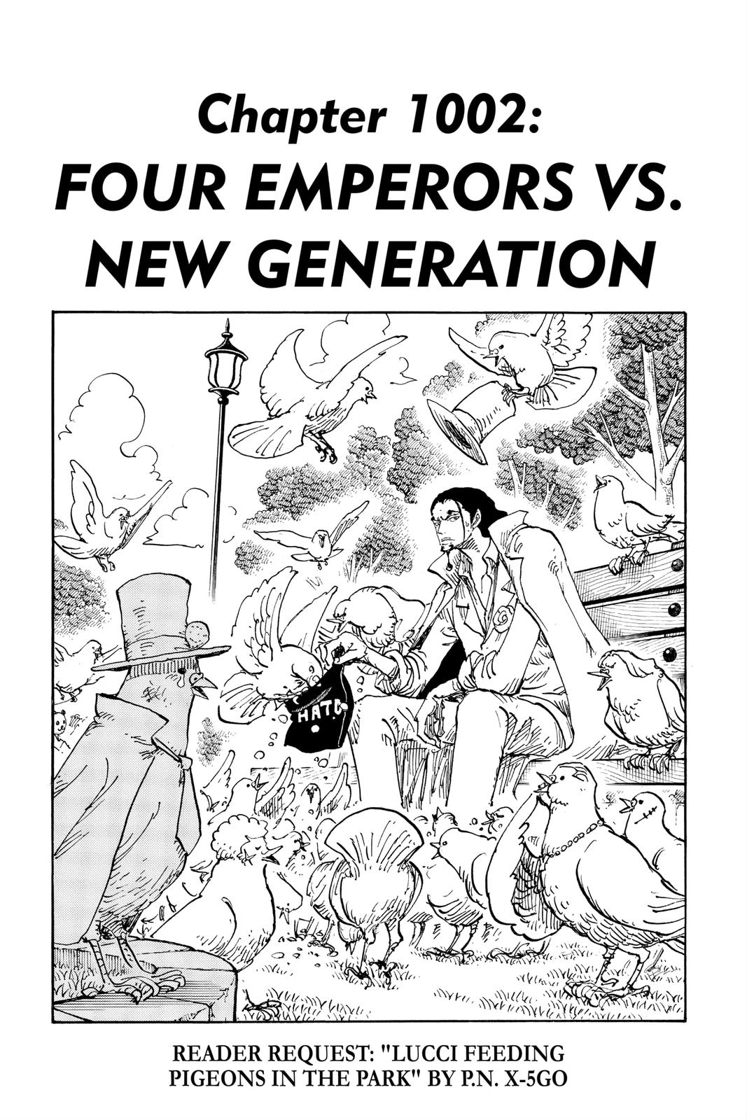 One Piece Chapter 1002 Page 1