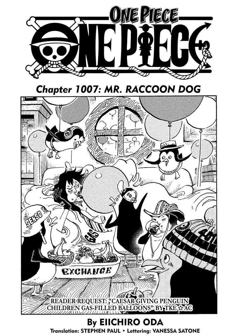 One Piece Chapter 1007 Page 1