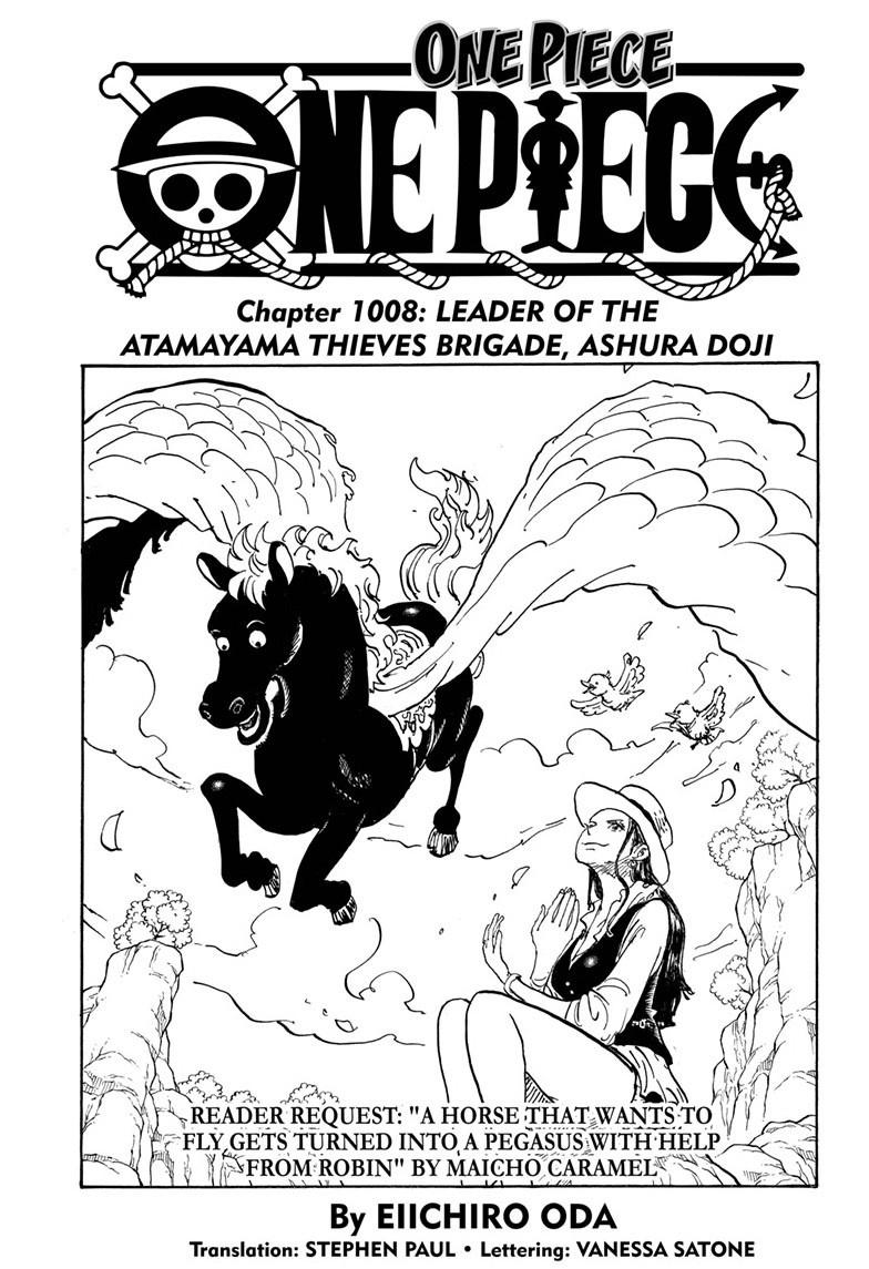 One Piece Chapter 1008 Page 1