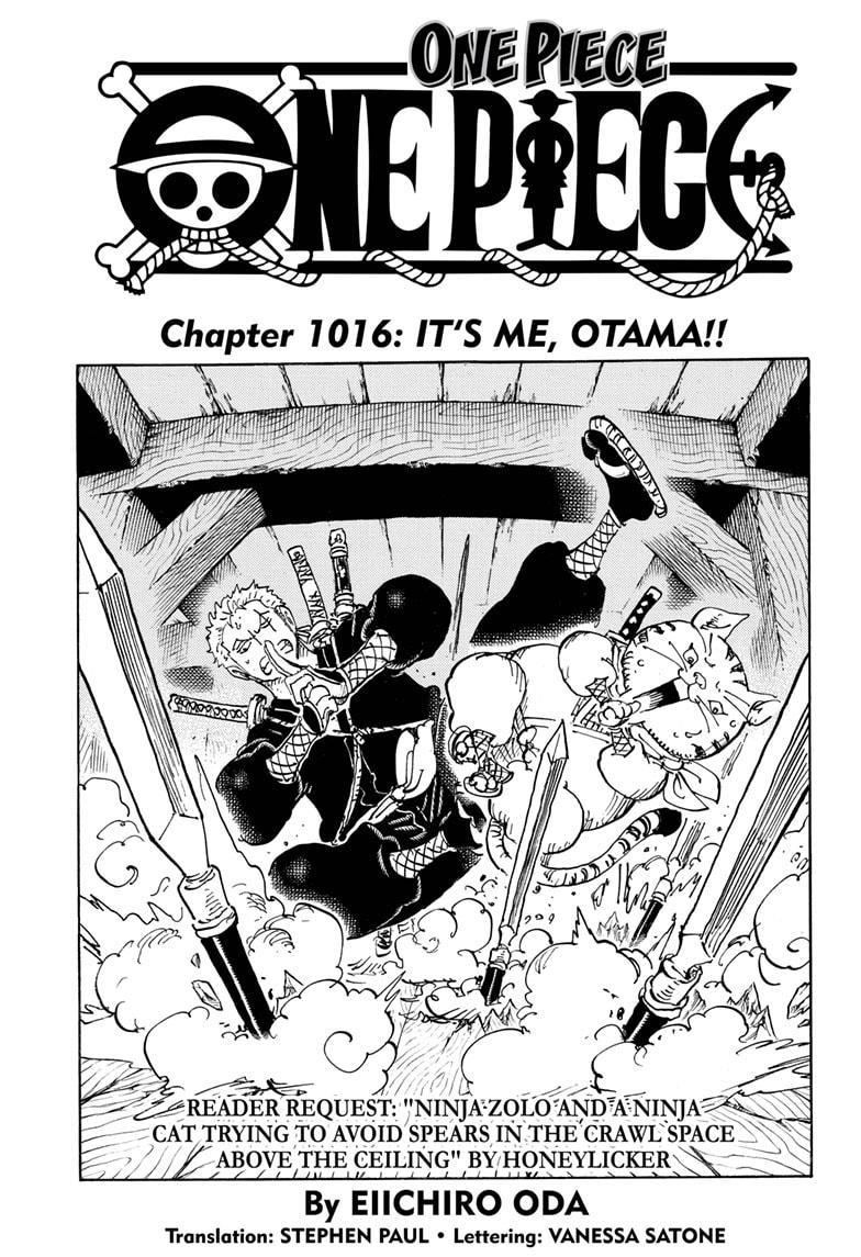 One Piece Chapter 1016 Page 1