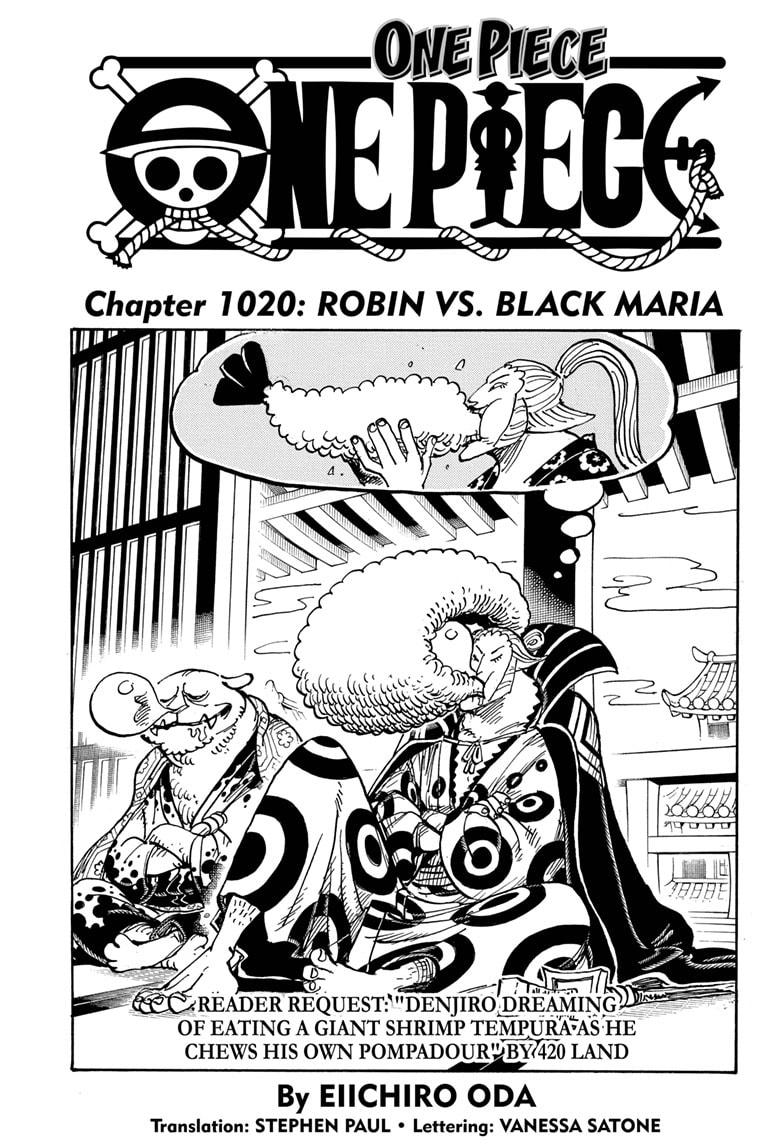 One Piece Chapter 1020 Page 1