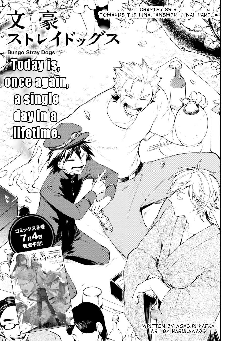 Bungou Stray Dogs Chapter 83.5 Page 2