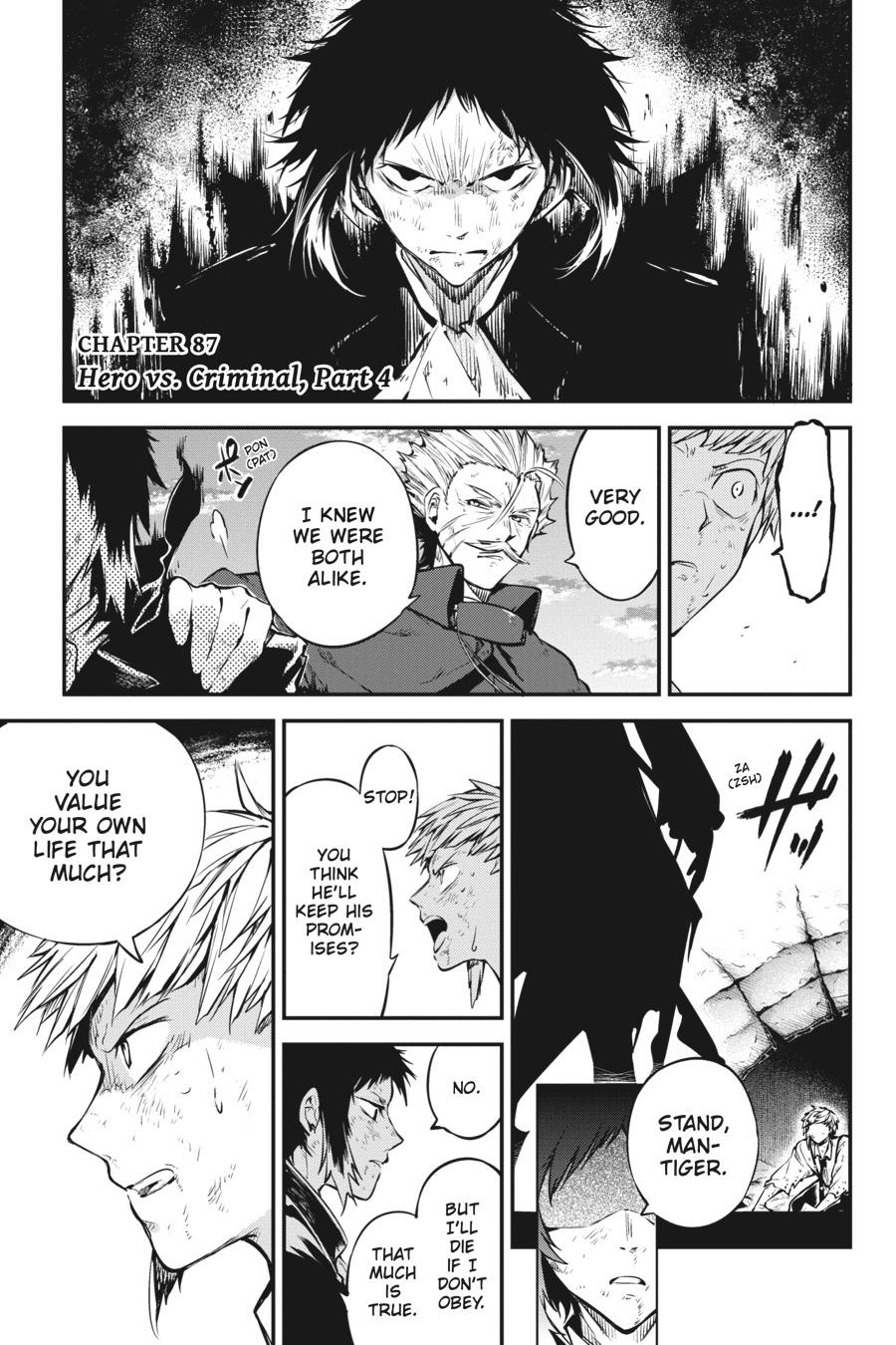Bungou Stray Dogs Chapter 87 Page 1