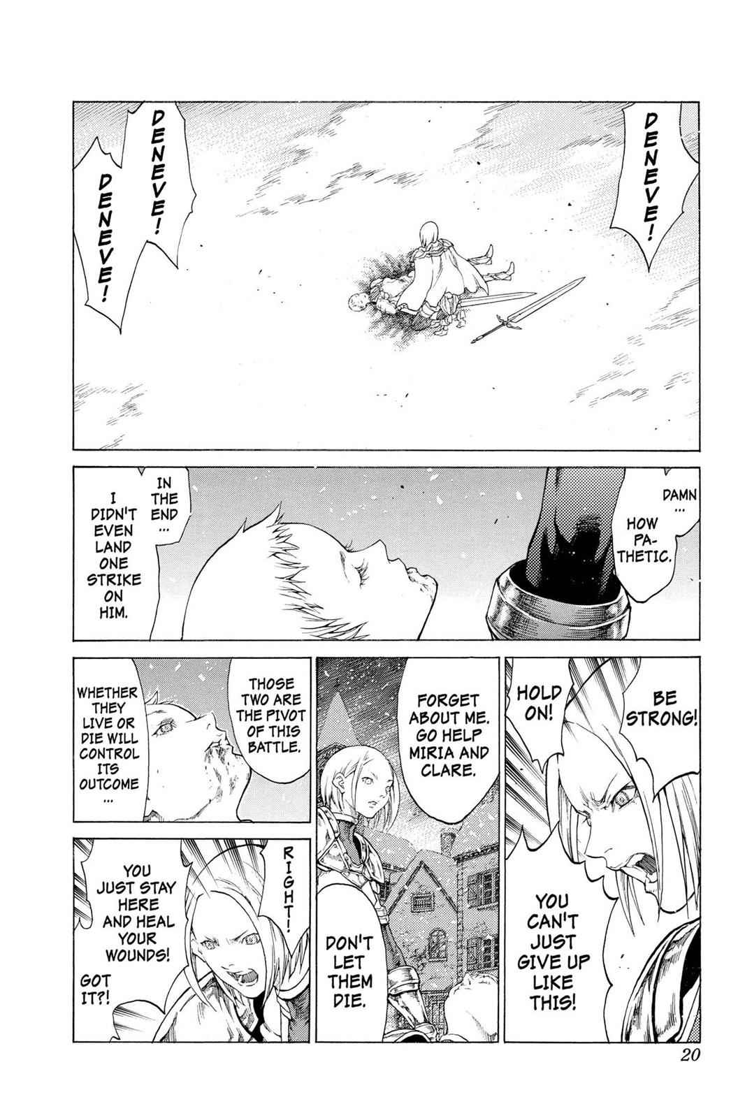 Claymore Chapter 58 Page 20