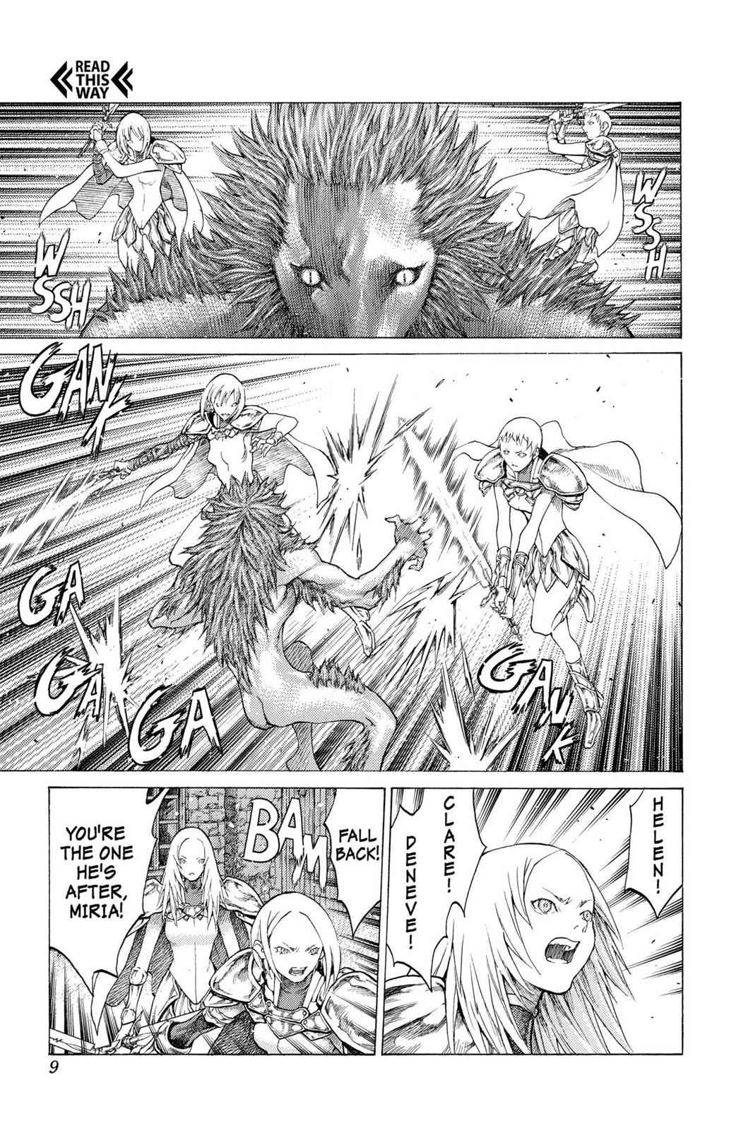 Claymore Chapter 58 Page 9