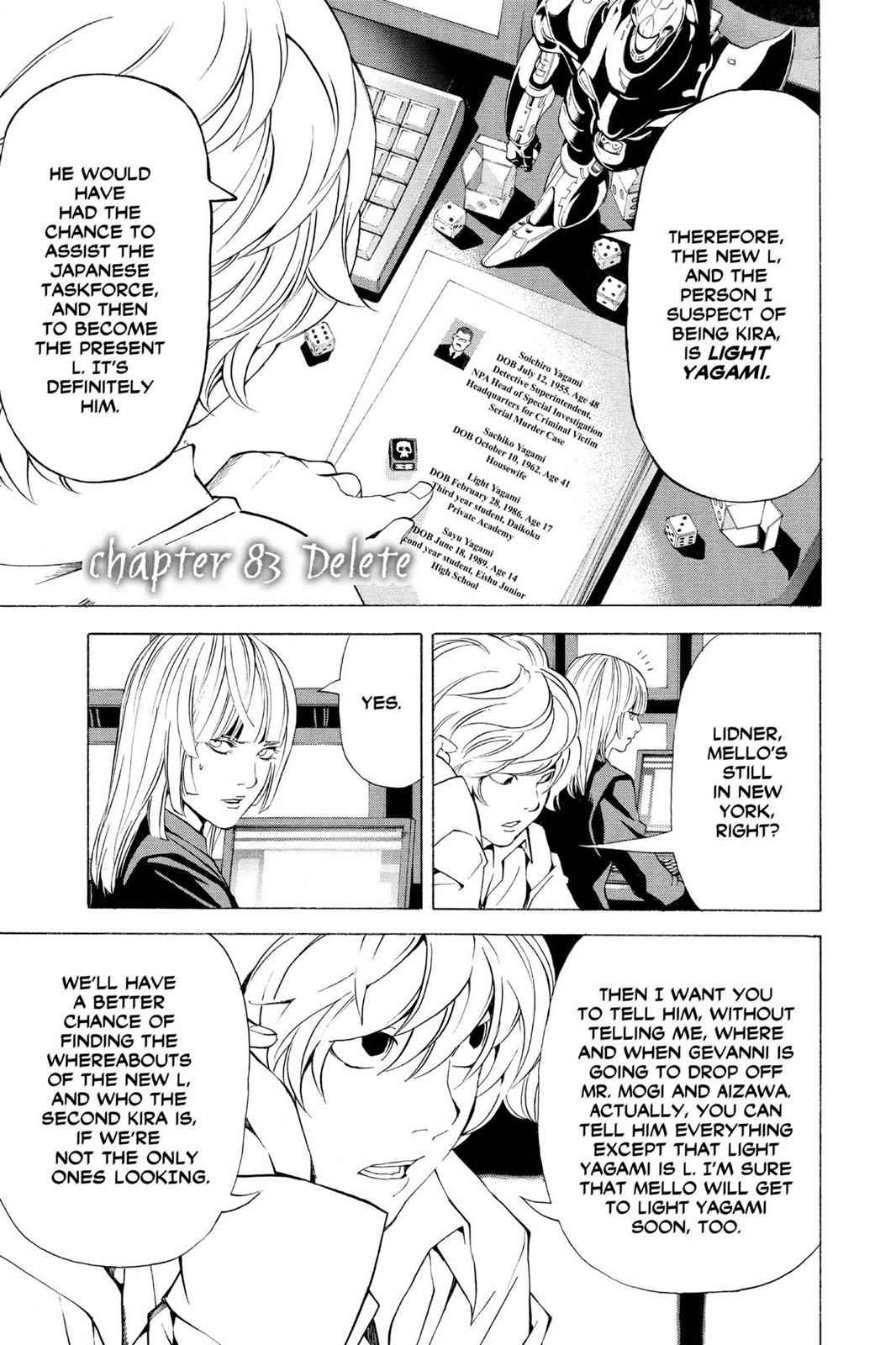 Death Note Chapter 83 Page 1